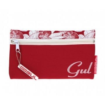 "HELIX GUL ""RED FLORAL"" PENCIL CASE NEOPRENE SINGLE POCKET CASE by Helix"
